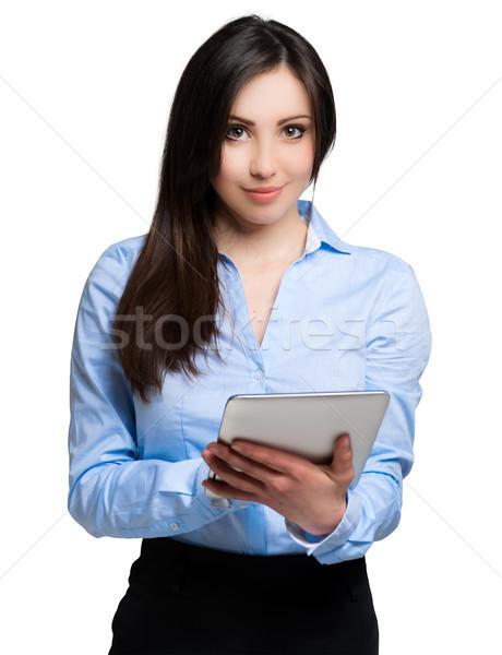 Vrouw tablet geïsoleerd witte computer kantoor Stockfoto © Minervastock
