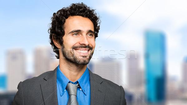 Yakışıklı işadamı portre açık adam sokak Stok fotoğraf © Minervastock