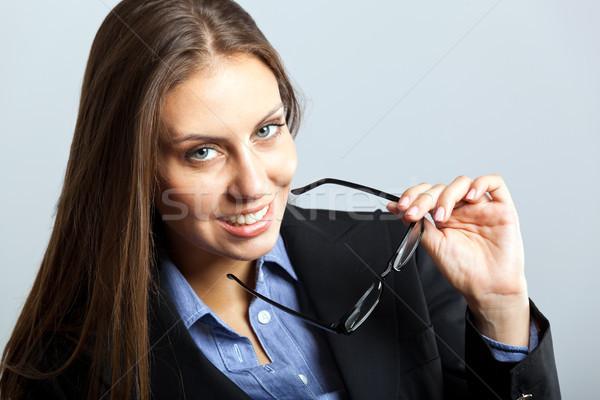 Dostça işkadını portre gözlük güzel Stok fotoğraf © Minervastock