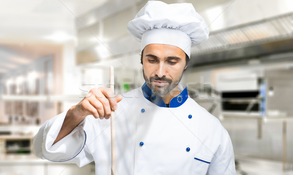 Young chef cooking  Stock photo © Minervastock