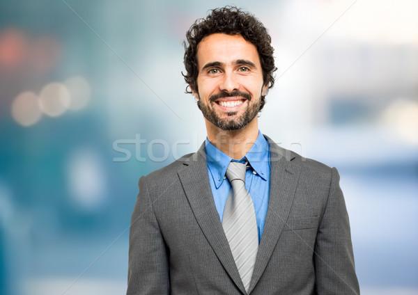 笑みを浮かべて ビジネスマン 男 ビジネスマン スーツ 企業 ストックフォト © Minervastock