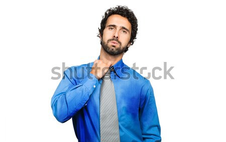 Transpiration affaires chaud climatiques homme entreprise Photo stock © Minervastock