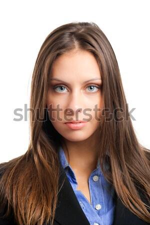 Dostça işkadını portre güzel genç yalıtılmış Stok fotoğraf © Minervastock