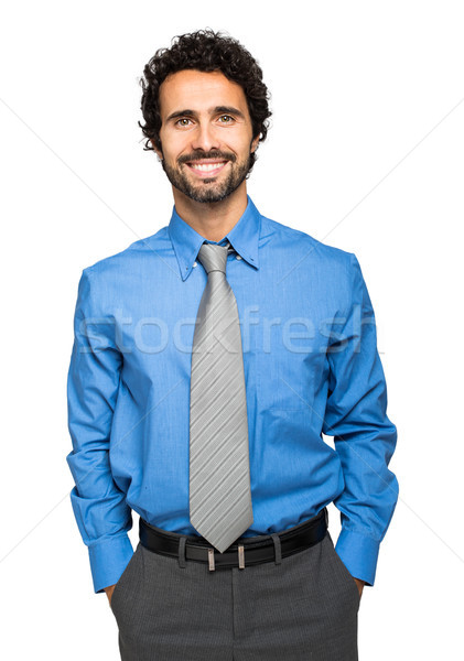 肖像 ハンサム ビジネスマン 孤立した 白 ビジネス ストックフォト © Minervastock