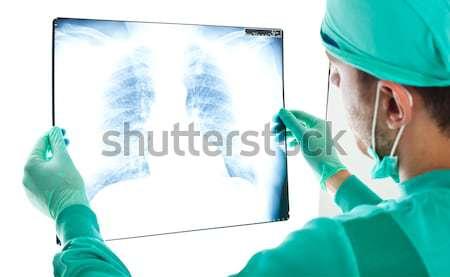 Portré orvos néz röntgenkép munka kórház Stock fotó © Minervastock