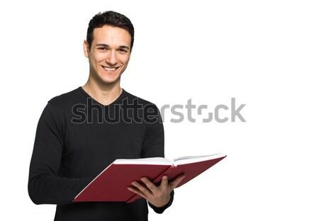 Vent lezing boek man boeken jongen Stockfoto © Minervastock