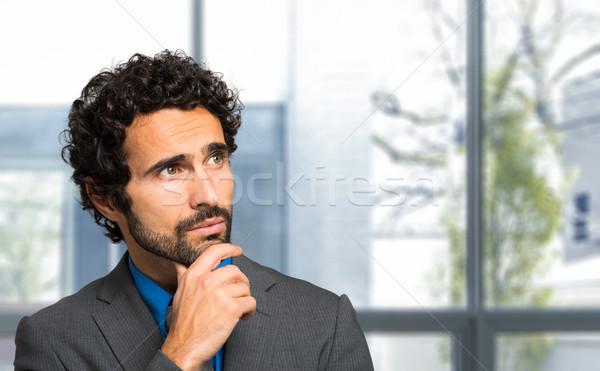 肖像 ハンサム ビジネスマン オフィス 顔 ストックフォト © Minervastock