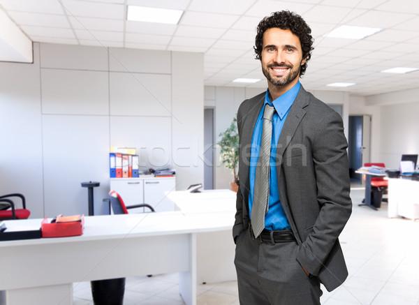 Masculino gerente escritório negócio empresário corporativo Foto stock © Minervastock