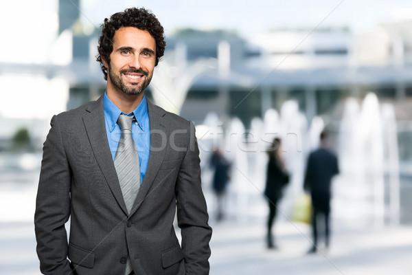 успешный менеджера Открытый портрет городского человека Сток-фото © Minervastock