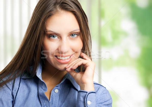 Dostça işkadını portre ofis güzel kadın Stok fotoğraf © Minervastock