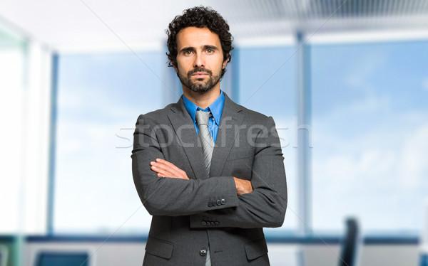 Ciddi müdür portre işadamı Bina yürütme Stok fotoğraf © Minervastock
