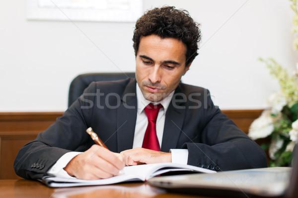 Businessman working in his office Stock photo © Minervastock