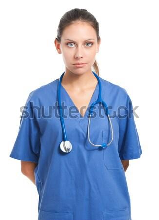 Portre dostça kadın doktor beyaz kadın Stok fotoğraf © Minervastock