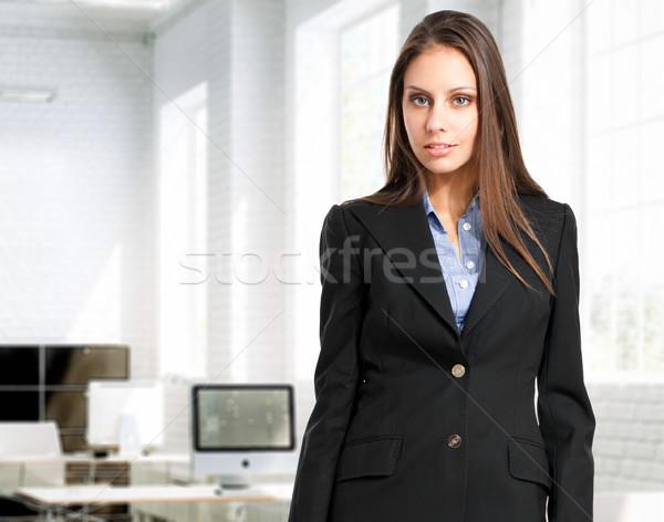 Dostça işkadını ofis güzel ayakta kadın Stok fotoğraf © Minervastock
