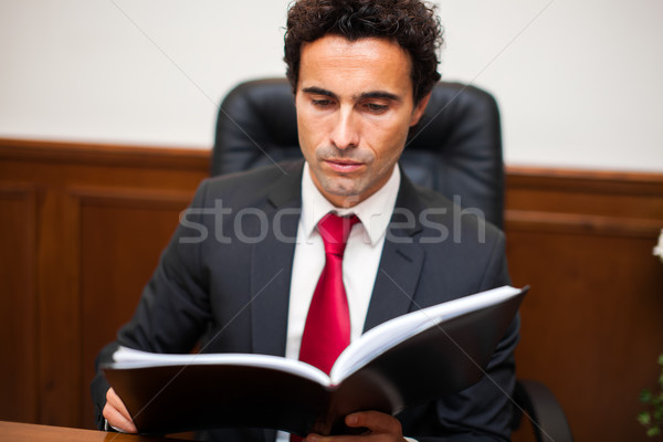 Lawyer in his studio Stock photo © Minervastock