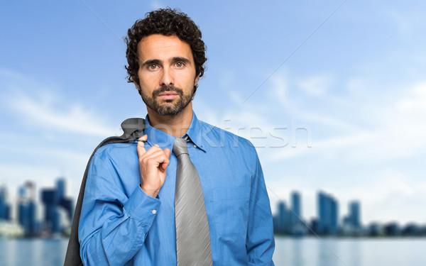 Başarılı müdür açık portre kentsel adam Stok fotoğraf © Minervastock