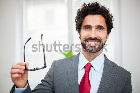 Businessman pointing his finger at you Stock photo © Minervastock