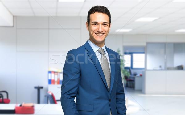 笑みを浮かべて ビジネスマン オフィス ビジネス 男 作業 ストックフォト © Minervastock