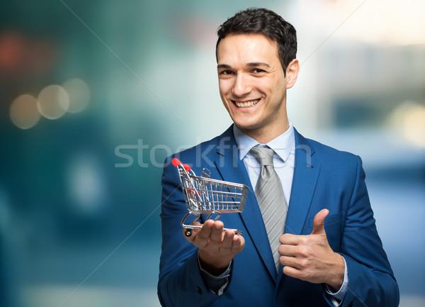 ストックフォト: ビジネスマン · 2 · 孤立した · 白 · 男