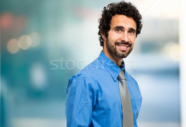 Bonito masculino gerente retrato homem empresário Foto stock © Minervastock