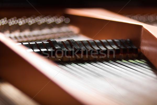 Details inside a piano Stock photo © Minervastock