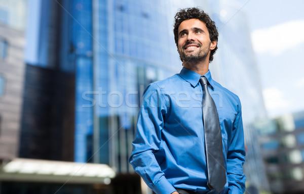 Bonito empresário retrato ao ar livre homem cidade Foto stock © Minervastock