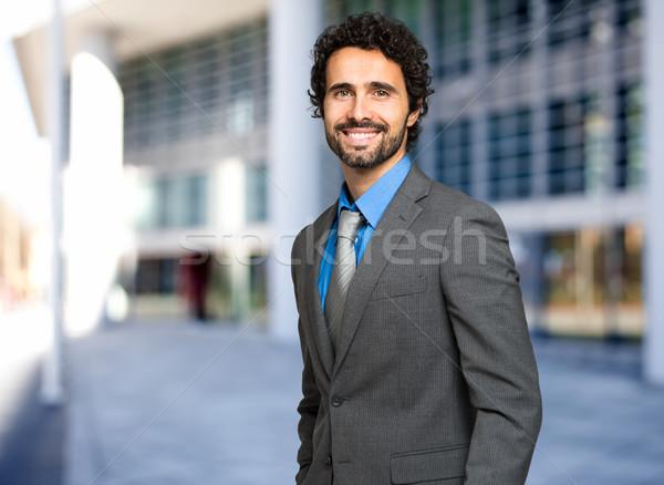 Handsome businessman portrait outdoor Stock photo © Minervastock