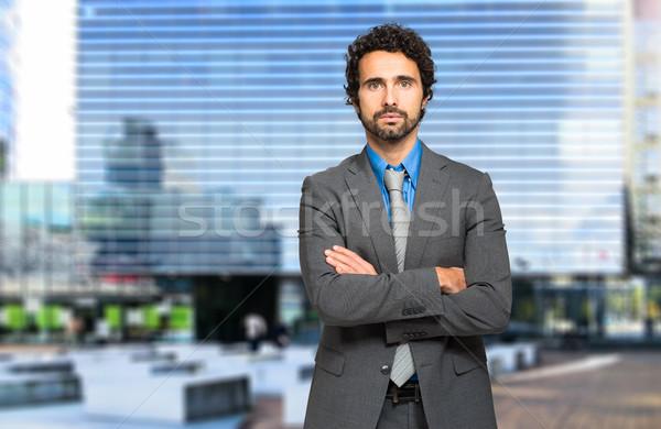 ハンサム ビジネスマン 肖像 屋外 男 通り ストックフォト © Minervastock