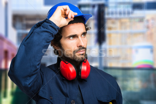 Stock photo: Portrait of an engineer at work