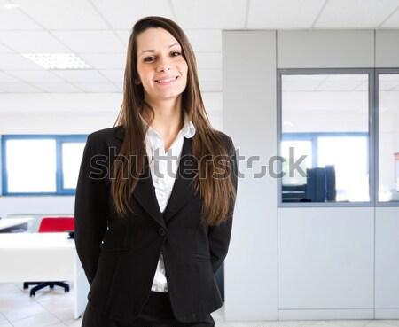 Genç işkadını yüz seksi mutlu çalışmak Stok fotoğraf © Minervastock