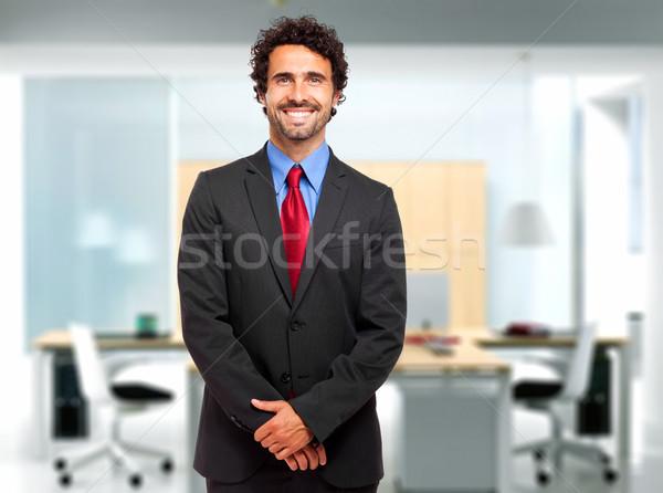 Bonito sorridente gerente homem empresário Foto stock © Minervastock