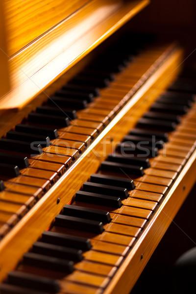 Piano keyboard closeup Stock photo © Minervastock