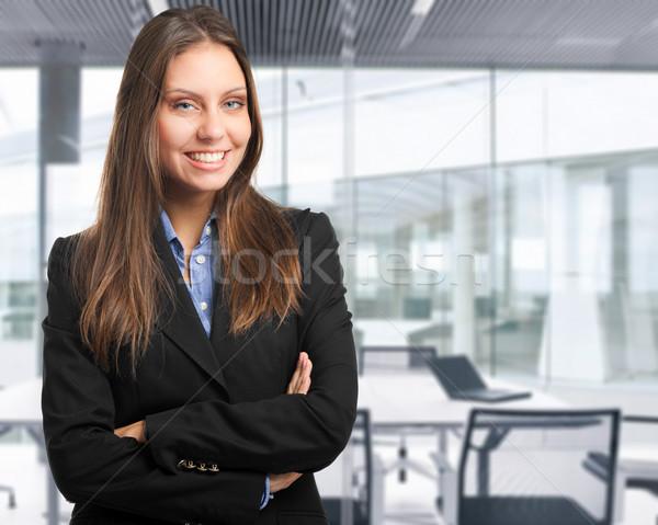 Dostça kadın müdür portre ofis güzel Stok fotoğraf © Minervastock