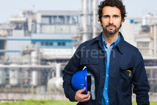Worker in a construction site Stock photo © Minervastock