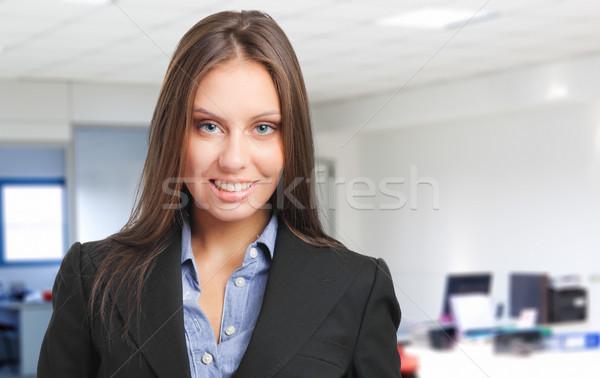 笑みを浮かべて 女性 マネージャ 肖像 オフィス 美しい ストックフォト © Minervastock