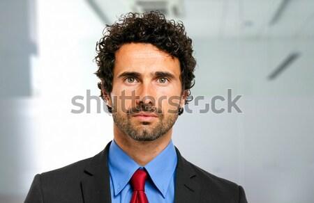 Empresário isolado branco homem trabalhar trabalho Foto stock © Minervastock