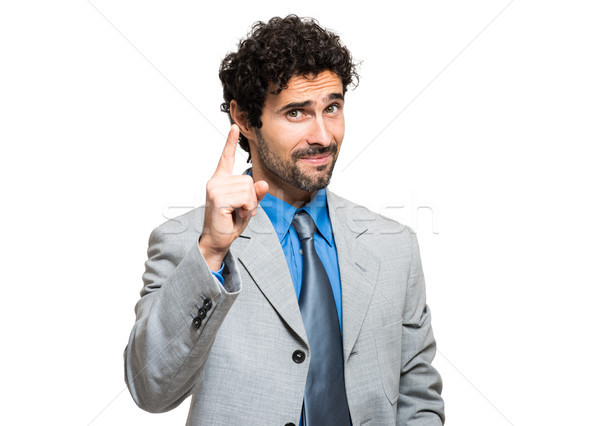 businessman having a good idea Stock photo © Minervastock