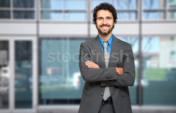 Gülen işadamı adam iş adamları yürütme iş Stok fotoğraf © Minervastock