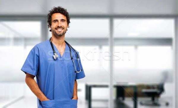 Doktor hastane gülümseme tıbbi vücut tıp Stok fotoğraf © Minervastock