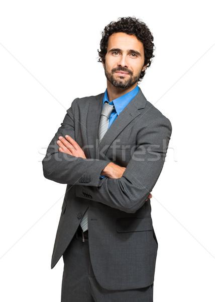 Müdür beyaz iş işadamı kurumsal şirket Stok fotoğraf © Minervastock