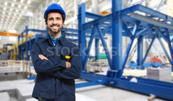 Worker in a factory Stock photo © Minervastock