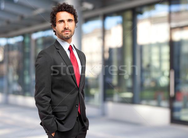 Guapo empresario gerente negocios sonrisa Foto stock © Minervastock