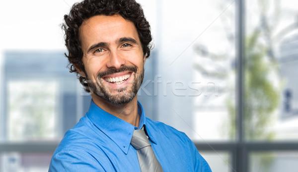 Gülen müdür portre mutlu işadamı erkekler Stok fotoğraf © Minervastock
