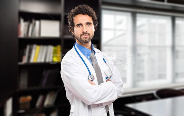 Médico retrato estudio papel salud blanco Foto stock © Minervastock