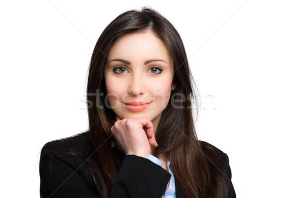 Belo empresária retrato mulher moda modelo Foto stock © Minervastock