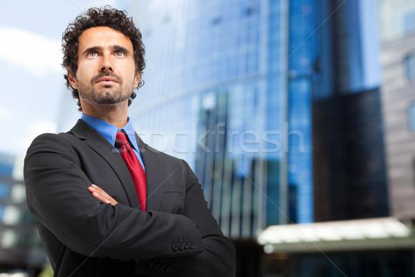 Gerente ao ar livre trabalhar empresário executivo corporativo Foto stock © Minervastock