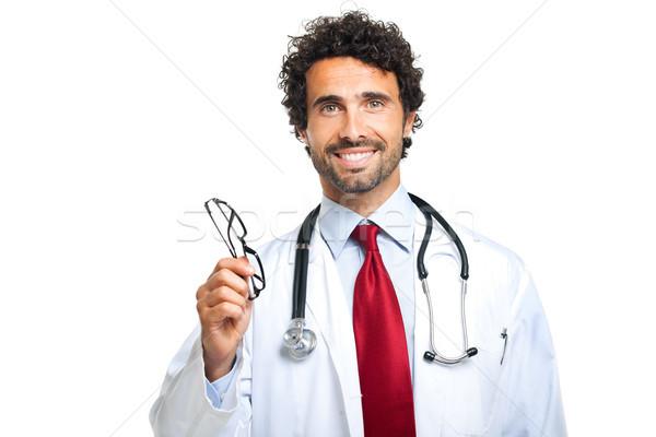 Göz doktoru çift gözlük doktor sağlık tıp Stok fotoğraf © Minervastock
