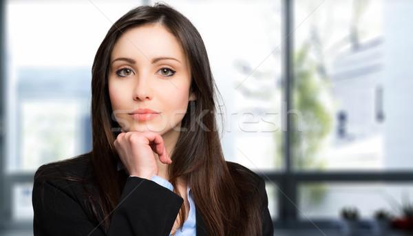 Gülen genç kadın müdür portre kadın Stok fotoğraf © Minervastock