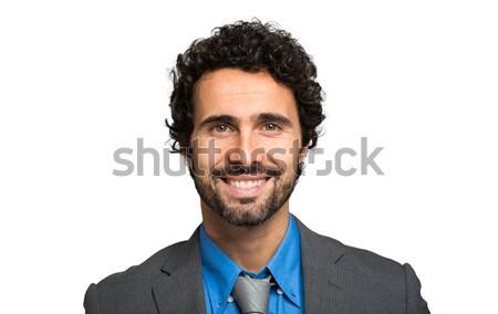 肖像 優しい ビジネスマン 孤立した 白 男 ストックフォト © Minervastock