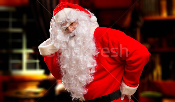 Papai noel retrato pai seis natal Foto stock © Minervastock